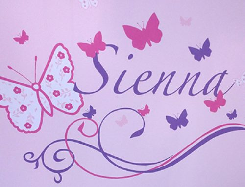 Butterfly Name Mural