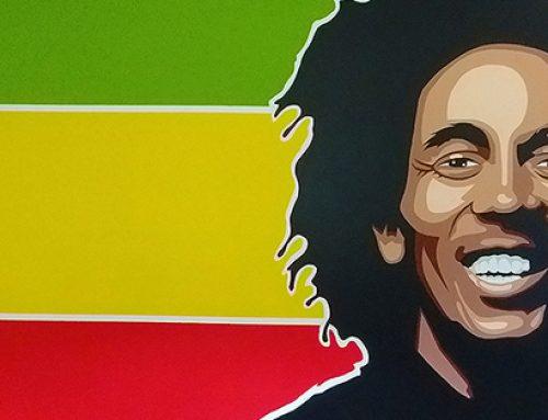 Bob Marley Mural Portrait