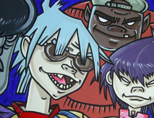 The Gorillaz Mural